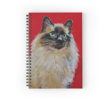 Siamese Cat Portrait Spiral Notebook