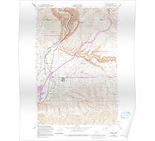 USGS Topo Map Washington State WA Pomona 243198 1953 24000 Poster