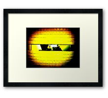 follow the yellow brick wall to Pac-Man Framed Print