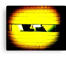 follow the yellow brick wall to Pac-Man Canvas Print