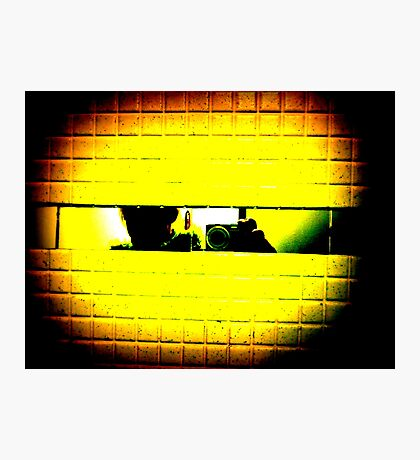 follow the yellow brick wall to Pac-Man Photographic Print