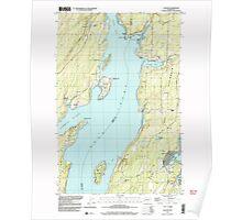 USGS Topo Map Washington State WA Vaughn 244471 1990 24000 Poster