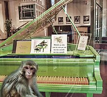some say monkeys play piano by GolemAura