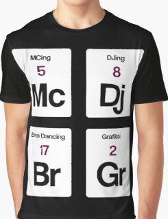 The Four Elements of Hip Hop Graphic T-Shirt