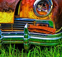Vintage Frazer Auto Wreck Front End by Randall Nyhof