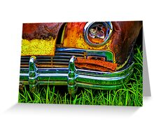 Vintage Frazer Auto Wreck Front End Greeting Card