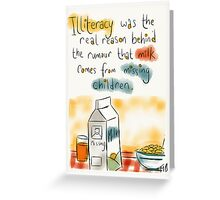 Why reading is good.  Greeting Card