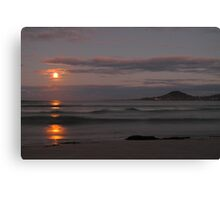 supermoon, redbill beach. eastcoast, tasmania Canvas Print