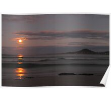 supermoon, redbill beach. eastcoast, tasmania Poster