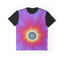 Explosion in Pink Blue and Red Graphic T-Shirt