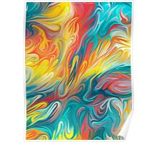 Abstract Colors II Poster