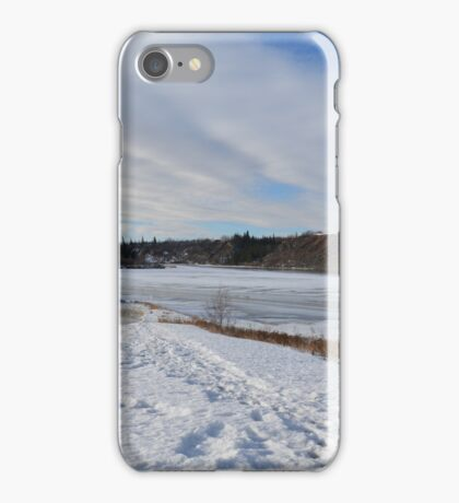 North Saskatchewan River, In Early Spring iPhone Case/Skin