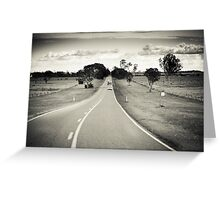 Riding the long road Greeting Card