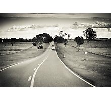 Riding the long road Photographic Print