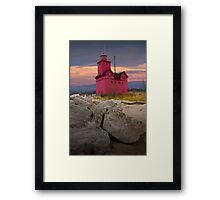 Big Red Lighthouse by Holland Michigan No.0173 Framed Print