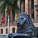 Lion guards Brisbane's City Hall by PhotoJoJo