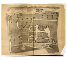 Panoramic Maps The Mount Florence property at Peekskill on the Hudson Poster