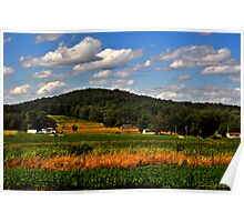 Blue Skies and Rolling Landscapes Poster