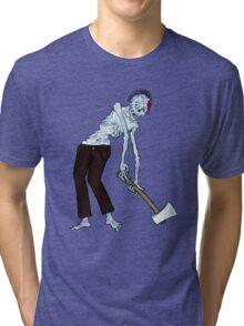 Zombie Axe Dragger!! Tri-blend T-Shirt