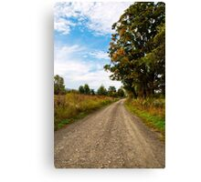 Old Country Road Landscape Canvas Print