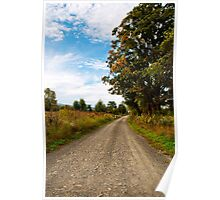 Old Country Road Landscape Poster