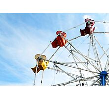 Ninety Degrees of Ferris Wheel Photographic Print