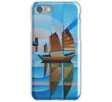 Soft Skies, Cerulean Seas and Cubist Junks iPhone Case/Skin