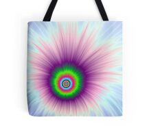 Explosion in Green Purple and Blue Tote Bag