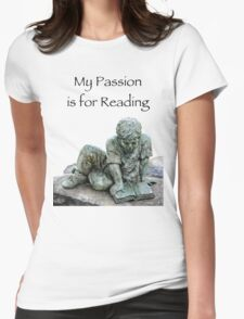 My Passion is for Reading Womens Fitted T-Shirt