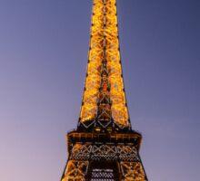 Eiffel Tower and sunset (2) Sticker