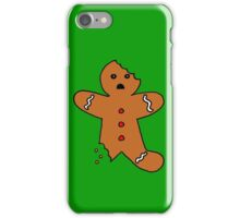 Gingerbread Man, Green iPhone Case/Skin