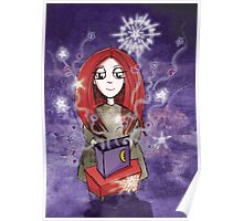 Girl Quirky-Seeing Stars Poster