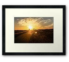 The Sunset Road Framed Print