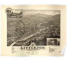 Panoramic Maps Bird's eye view of Littleton Grafton County NH 1883 Poster