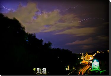 Texas thunder and lightening storm by NewLayer
