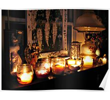 Lit Candles On My Mantel, Home Sweet Home Poster