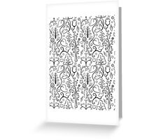 Black and White Plants Greeting Card