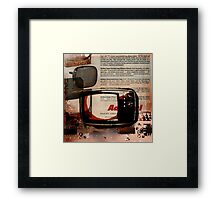 cool geeky tech Retro Vintage TV television Nostalgia Framed Print