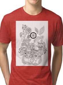 Mice and flowers Tri-blend T-Shirt