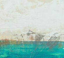 abstract seascape Sticker