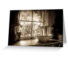 The Scullery ~ Sepia Greeting Card