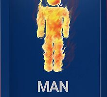 Man on fire apple toys / iPhone ipad  by gr8erAchilles