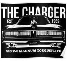 Dodge Charger Classic US Muscle Car Poster