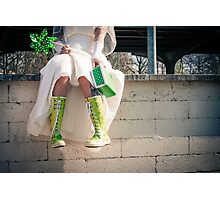 crazy bride Photographic Print