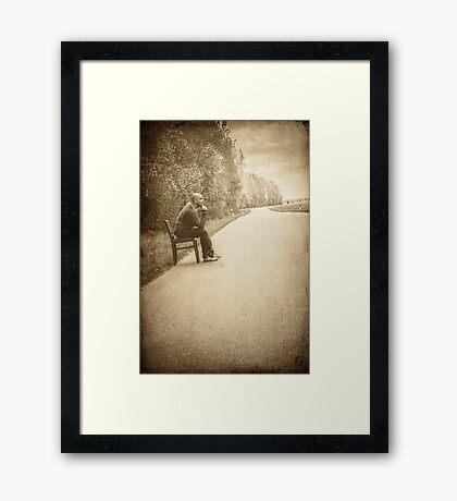 lonely man Framed Print