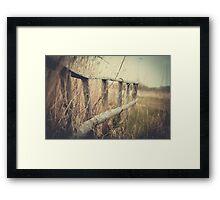 Brücke im Moor Framed Print