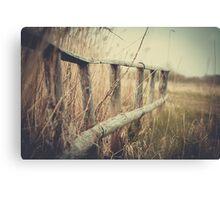 Brücke im Moor Canvas Print