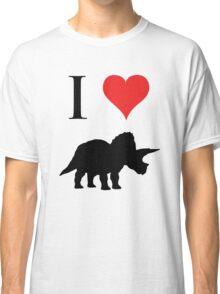 I Love Dinosaurs - Triceratops Classic T-Shirt