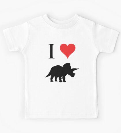 I Love Dinosaurs - Triceratops Kids Tee