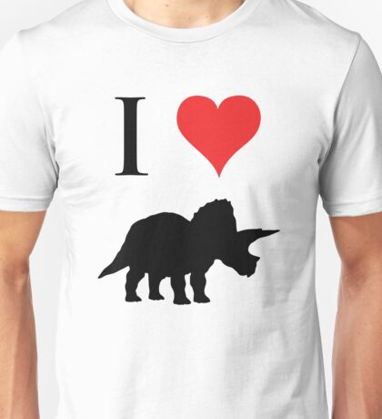 I Love Dinosaurs - Triceratops Unisex T-Shirt